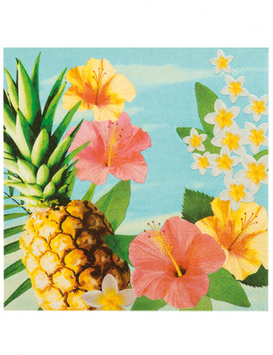 12 Serviettes Hawaii party 33 X 33 cm