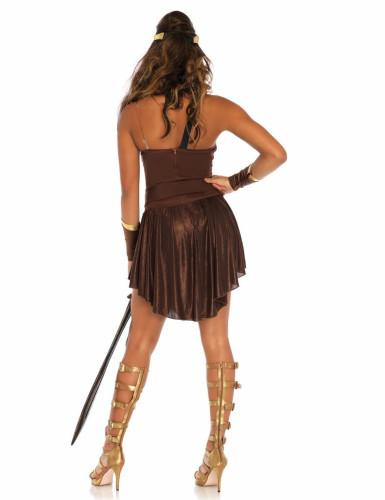 Déguisement combattante gladiatrice dorée femme-1