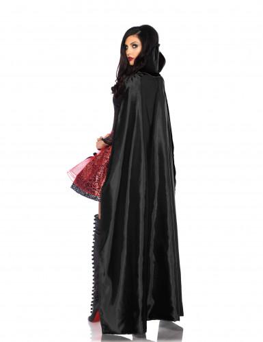 Déguisement vampire tentatrice avec cape détachable femme-1