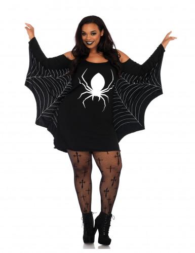 Déguisement robe toile d'araignées femme