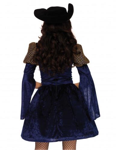 Déguisement mousquetaire bleue sexy femme-2