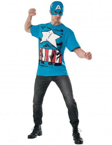 T-shirt et masque Captain America™ Avengers™ adulte