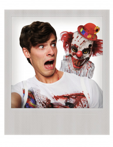 T-shirt selfie clown effayant adulte-1