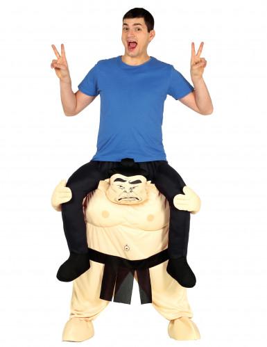Déguisement homme à dos de sumo adulte