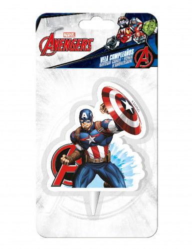 Bougie anniversaire Captain America™-1