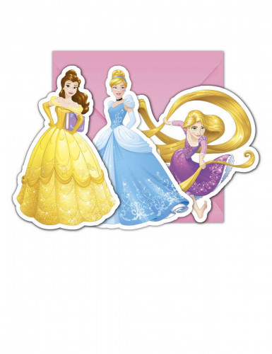 6 Cartes d'invitation + enveloppes Princesses Disney Dreaming ™