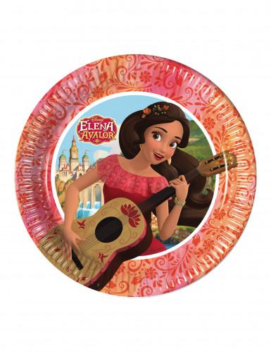 8 Petites assiettes en carton 20cm Elena d'Avalor ™