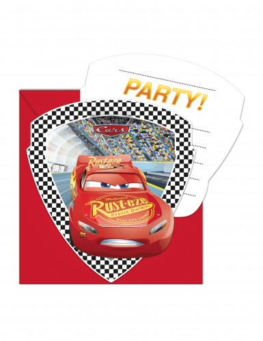 6 Cartons d'invitation + enveloppes Cars 3™