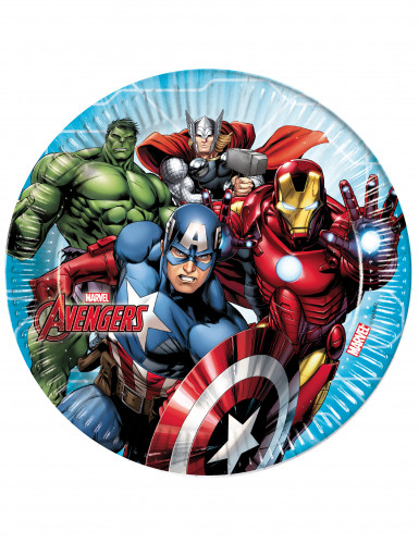 8 Assiettes en carton 23cm Avengers Mighty ™