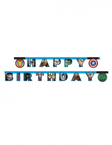 Guirlande happy birthday Avengers Mighty ™