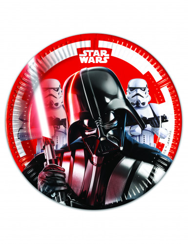 8 petites assiettes en carton Star Wars Final Battle™ 20 cm