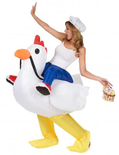 Déguisement poulet gonflable adulte
