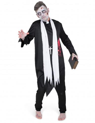 Déguisement prêtre zombifié homme-1