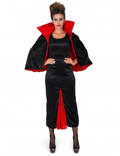 Déguisement comtesse Dracula velours femme-1