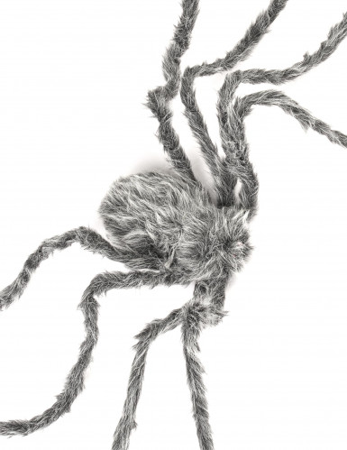 Araignée géante grise velue Halloween 160 cm-1