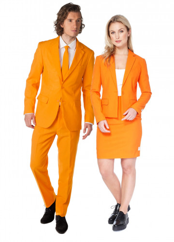Déguisement de couple Opposuits™ orange