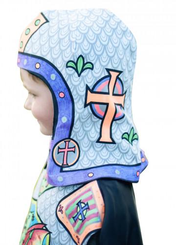 Casque lavable et à colorier chevalier enfant-1