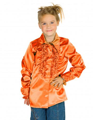 Chemise orange avec froufrous enfant