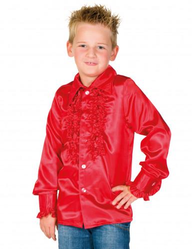 Chemise rouge avec froufrous enfant