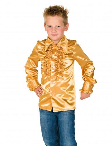 Chemise dorée avec froufrous enfant