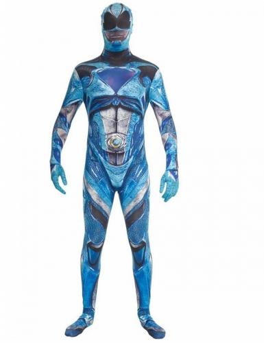 Déguisement combinaison bleue Power Rangers™ deluxe adulte Morphsuits™