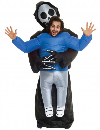 Déguisement homme porté par la faucheuse adulte Morphsuits™ Halloween