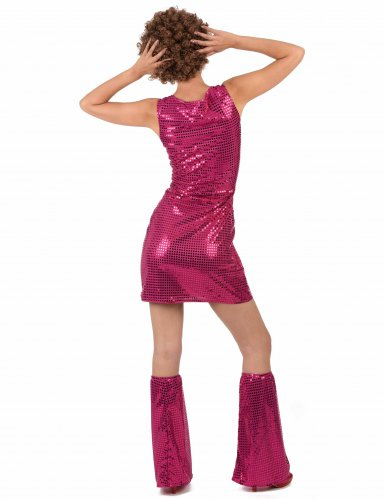 Déguisement Disco Fuchsia à Sequins Femme-2
