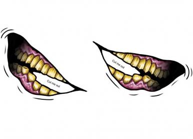 Tatouage ephémere grand sourire en coin adulte-1