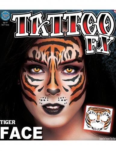 Tatouage ephémere visage tigreadulte