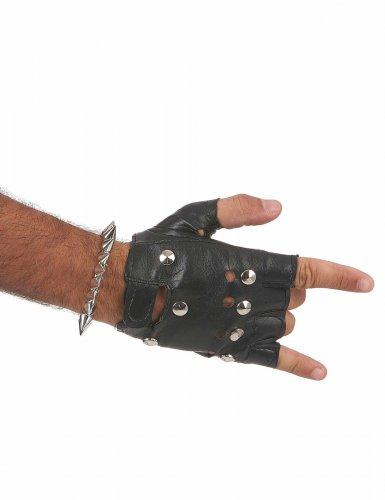 Bracelet punk argenté adulte-2
