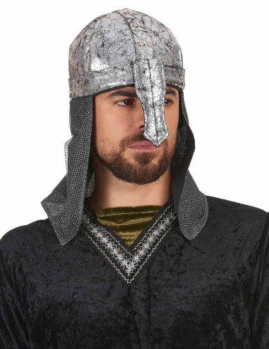 Casque chevalier guerrier souple adulte-1