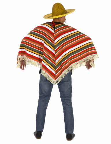 Poncho mexicain adulte-2