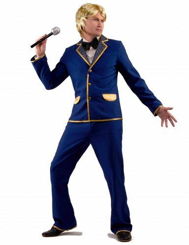 Déguisement chanteur disco bleu Homme