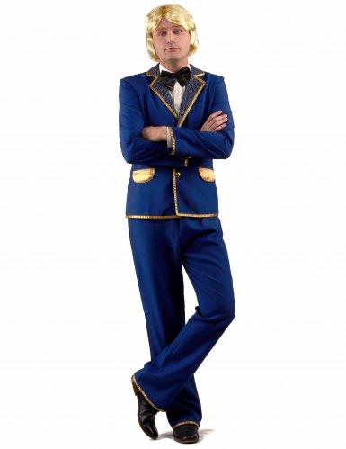 Déguisement chanteur disco bleu Homme-1
