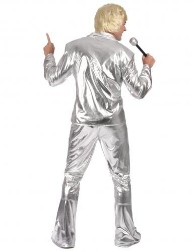 Déguisement Disco Argent brillant Homme-2