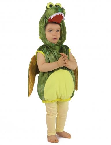 Déguisement dinosaure vert enfant-3