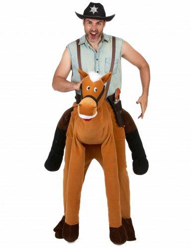 Déguisement homme à dos de cheval marron adulte-1