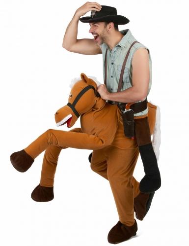 Déguisement homme à dos de cheval marron adulte