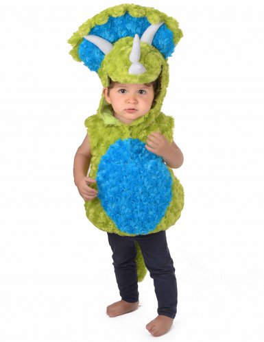 Déguisement dinosaure vert et bleu enfant-4