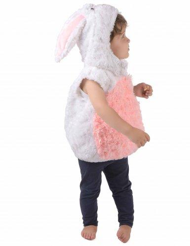 Déguisement lapin blanc et rose sans manches enfant-1