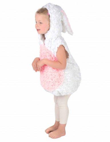 Déguisement lapin blanc et rose sans manches enfant-2