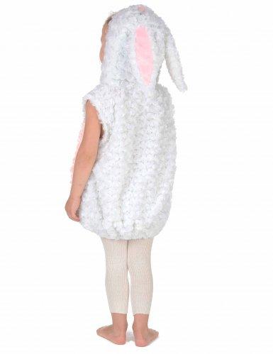 Déguisement lapin blanc et rose sans manches enfant-3