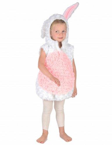 Déguisement lapin blanc et rose sans manches enfant-4