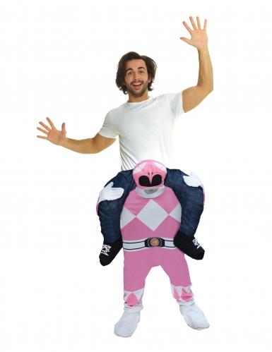 Déguisement homme porté par Power Rangers™ rose adulte Morphsuits™