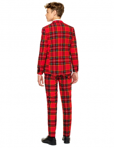 Costume Mr. Tartan rouge écossais adolescent Opposuits™-1