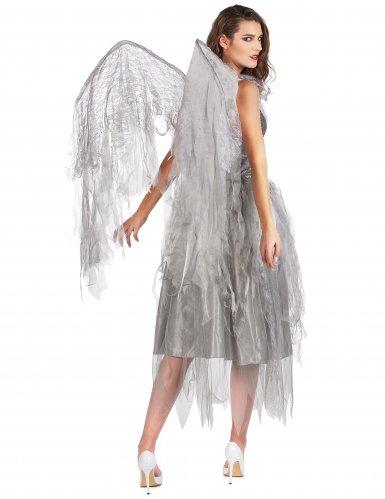 Déguisement ange baroque argenté femme-2