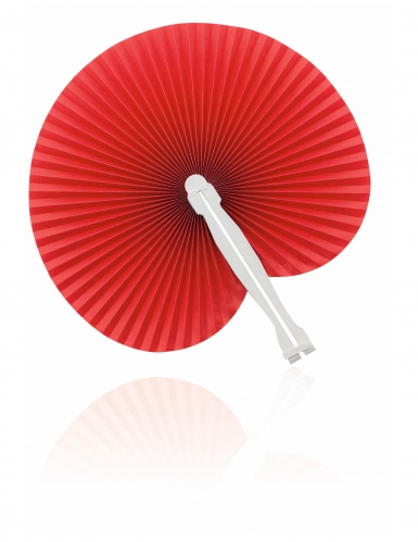Eventail pliable rouge