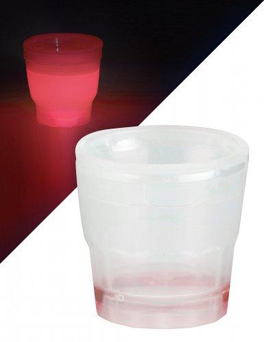 Verre à shooter lumineux rouge 50 ml
