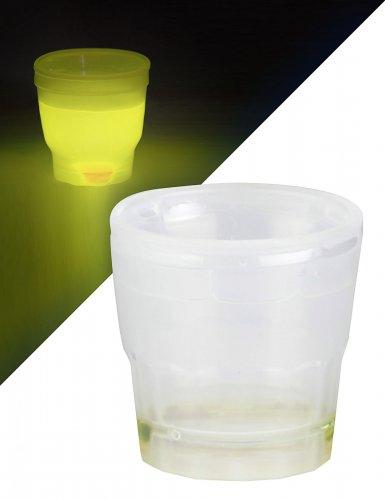 Verre à shooter lumineux jaune 50 ml