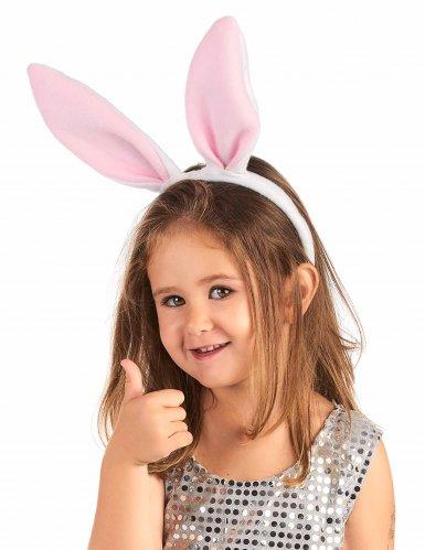 Serre-tête oreilles roses de lapin enfant-1